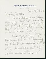 Letter to Mrs. C.G. (Ann) Austin, February 7, 1940