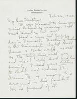 Letter to Mrs. C.G. (Ann) Austin, February 26, 1940