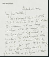 Letter to Mrs. C.G. (Ann) Austin, March 15, 1940