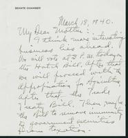 Letter to Mrs. C.G. (Ann) Austin, March 18, 1940