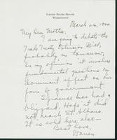 Letter to Mrs. C.G. (Ann) Austin, March 26, 1940
