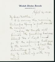 Letter to Mrs. C.G. (Ann) Austin, April 16, 1940