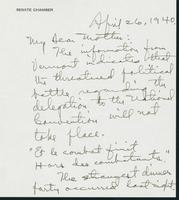 Letter to Mrs. C.G. (Ann) Austin, April 26, 1940