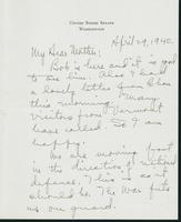 Letter to Mrs. C.G. (Ann) Austin, April 29, 1940