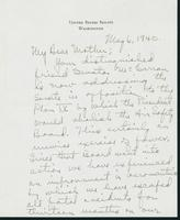 Letter to Mrs. C.G. (Ann) Austin, May 6, 1940