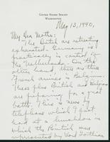 Letter to Mrs. C.G. (Ann) Austin, May 13, 1940
