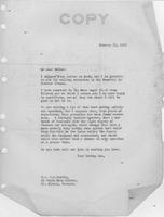 Warren R. Austin letter to Mrs. C.G. (Ann) Austin, January 11, 1932