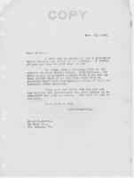 Letter to Mrs. C.G. (Ann) Austin, November  10, 1932