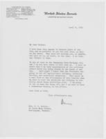 Letter to Mrs. C.G. (Ann) Austin, April  08, 1933