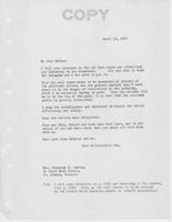 Letter to Mrs. C.G. (Ann) Austin, April  10, 1934