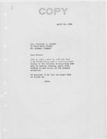 Letter to Mrs. C.G. (Ann) Austin, April  14, 1934