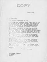 Letter to Mrs. C.G. (Ann) Austin, April 22, 1937
