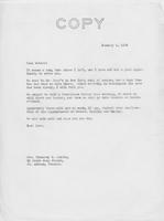 Letter to Mrs. C.G. (Ann) Austin, January 3, 1938