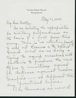 Letter to Mrs. C.G. (Ann) Austin, May 21, 1940