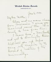 Letter to Mrs. C.G. (Ann) Austin, June 6, 1940