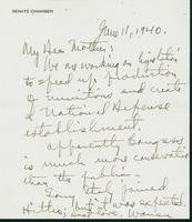 Letter to Mrs. C.G. (Ann) Austin, June 11, 1940