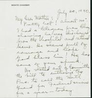 Letter to Mrs. C.G. (Ann) Austin, July 30, 1940