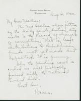 Letter to Mrs. C.G. (Ann) Austin, August 6, 1940
