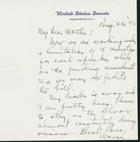 Letter to Mrs. C.G. (Ann) Austin, August 26, 1940