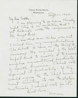 Letter to Mrs. C.G. (Ann) Austin, September 11, 1940