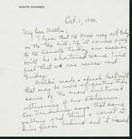 Warren R. Austin letter to Mrs. C.G. (Ann) Austin, October 1, 1940