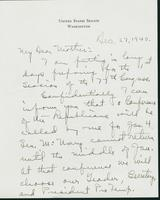 Warren R. Austin letter to Mrs. C.G. (Ann) Austin, December 27, 1940
