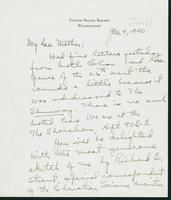 Warren R. Austin letter to Mrs. C.G. (Ann) Austin, January 4, 1941