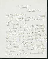 Warren R. Austin letter to Mrs. C.G. (Ann) Austin, May 3, 1941