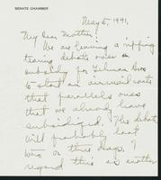 Warren R. Austin letter to Mrs. C.G. (Ann) Austin, May 5, 1941