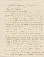 Letter from AUSTIN JACOBS COOLIDGE to GEORGE PERKINS MARSH,                             dated January 13, 1859.