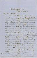 Letter from CHARLES MARSH to GEORGE PERKINS MARSH, dated October                             11, 1857.