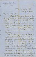 Letter from CHARLES MARSH to GEORGE PERKINS MARSH, dated July                             26, 1858.