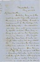 Letter from CHARLES MARSH to GEORGE PERKINS MARSH, dated August                             23, 1858.