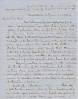 Letter from CHARLES MARSH to GEORGE PERKINS MARSH, dated January                             11, 1859.