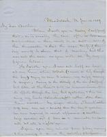 Letter from CHARLES MARSH to GEORGE PERKINS MARSH, dated January                             13, 1859.