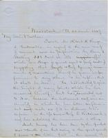 Letter from CHARLES MARSH to GEORGE PERKINS MARSH, dated March                             22, 1859.