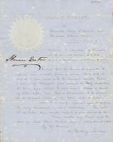 Letter from FREDERICK BILLINGS to GEORGE PERKINS MARSH and                             CHARLES PAINE, dated December 1, 1846.