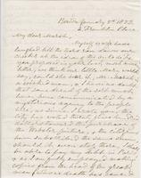 Letter from G. P. A. HEALY to GEORGE PERKINS MARSH, dated                             January 5, 1853.
