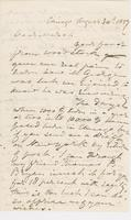 Letter from G. P. A. HEALY to GEOPGE PERKINS MARSH, dated August                             30, 1857.