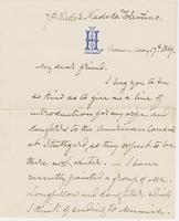 Letter from G. P. A. HEALY to GEORGE PERKINS MARSH, dated May                             17, 1869.
