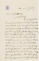 Letter from G. P. A. HEALY to GEORGE PERKINS MARSH, dated May                             27, 1869.