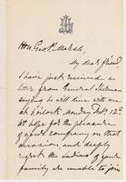 Letter from G. P. A. HEALY to GEORGE PERKINS MARSH, dated                             February 7, 1872.