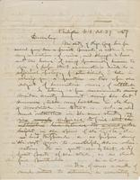 Letter from GEORGE PERKINS MARSH to ARNOLD HENRY GUYOT, dated                             October 27, 1857.