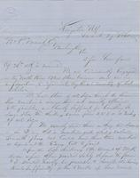 Letter from H. W. R. FITCH to GEORGE PERKINS MARSH, dated March                             29, 1860.