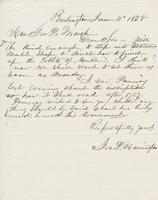 Letter from IRA P. HARRINGTON to GEORGE PERKINS MARSH, dated                             June 11, 1858.