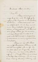 Letter from NORMAN WILLIAMS to GEORGE PERKINS MARSH, dated April                             13, 1857.