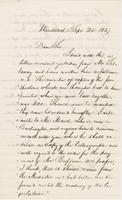 Letter from NORMAN WILLIAMS to GEORGE PERKINS MARSH, dated                             September 25, 1857.