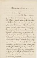 Letter from NORMAN WILLIAMS to GEORGE PERKINS MARSH, dated                             December 4, 1857.
