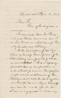 Letter from NORMAN WILLIAMS to GEORGE PERKINS MARSH, dated April                             12, 1858.