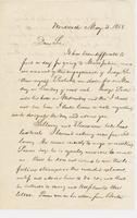 Letter from NORMAN WILLIAMS to GEORGE PERKINS MARSH, dated May                             3, 1858.